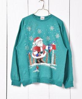古着アメリカ製 クリスマス プリントスウェット 古着のネット通販 古着屋グレープフルーツムーン