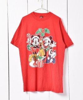 古着MICKEY UNLIMITED クリスマス ディズニー プリントTシャツ  古着のネット通販 古着屋グレープフルーツムーン