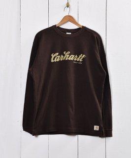 """古着""""Carhartt"""" ロゴ サーマル ロングスリーブTシャツ 古着のネット通販 古着屋グレープフルーツムーン"""