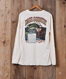 古着アメリカ製 魚プリント ヘンリーネック 長袖 カットソー 古着のネット通販 古着屋グレープフルーツムーン