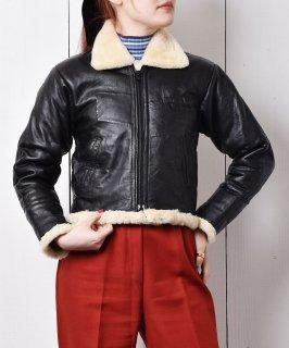 古着ボア付き レザージャケット 古着のネット通販 古着屋グレープフルーツムーン