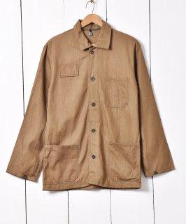 古着1989年製 チェコ軍ワークジャケット ヘリンボーン 古着のネット通販 古着屋グレープフルーツムーン