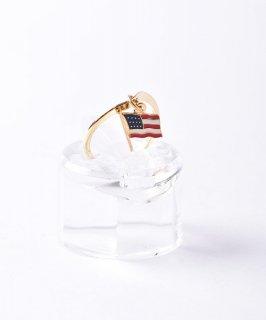古着USA国旗チャーム ゴールドカラーリング 古着のネット通販 古着屋グレープフルーツムーン