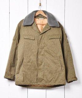古着ドイツ軍 レインドロップカモフィールドジャケット キルティングライナー 襟ボア付き 古着のネット通販 古着屋グレープフルーツムーン