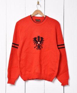 古着オーストリア製  国章デザイン チロルニット  古着のネット通販 古着屋グレープフルーツムーン
