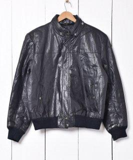 古着チンストラップ付 シングルレザージャケット 古着のネット通販 古着屋グレープフルーツムーン