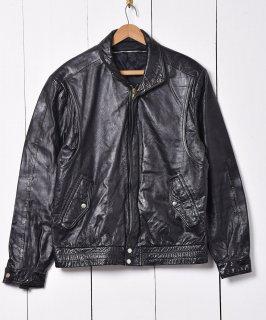 古着プリーツデザイン シングルレザージャケット 古着のネット通販 古着屋グレープフルーツムーン