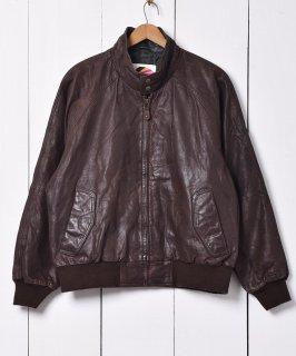 古着 「ROYAL CASTLE」リブ スウィングトップ型 レザージャケット 古着のネット通販 古着屋グレープフルーツムーン