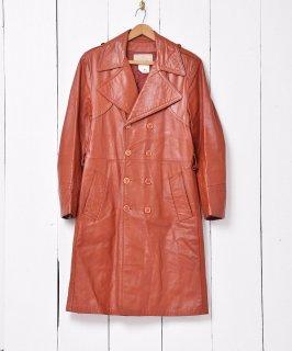 古着「Sears」レザートレンチ レッド・ブラウン系 古着のネット通販 古着屋グレープフルーツムーン
