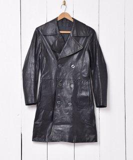 古着総レザー トレンチコート 小さめサイズ 古着のネット通販 古着屋グレープフルーツムーン