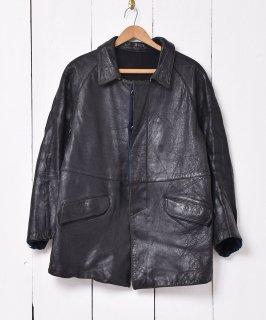 古着フランス製 オフィシャルワーカー レザージャケット フレンチワークウェア 古着のネット通販 古着屋グレープフルーツムーン