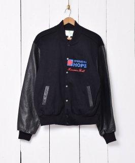 古着袖レザー切り替え オペレーションホープ スタジアムジャケット。 古着のネット通販 古着屋グレープフルーツムーン