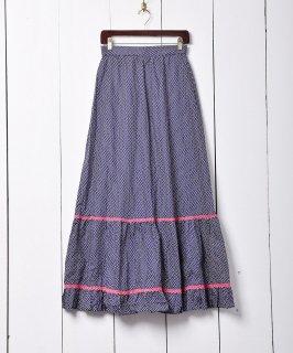 古着70's ヨーロッパ製 ティアード マキシスカート  古着のネット通販 古着屋グレープフルーツムーン