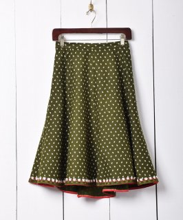 古着70's ヨーロッパ製 チロル スカート フレア 古着のネット通販 古着屋グレープフルーツムーン