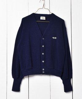 古着「JC Penney」「The fox Sweater」ネイビー カーディガン 古着のネット通販 古着屋グレープフルーツムーン