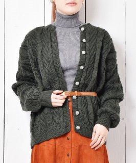 古着ヨーロッパライク アラン編み カーディガン  古着のネット通販 古着屋グレープフルーツムーン