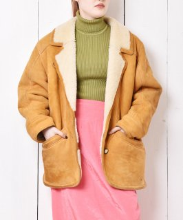 古着「Labor MODAPELLE」ジャケット型 ショート丈 ムートンコート 古着のネット通販 古着屋グレープフルーツムーン