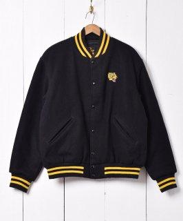 古着アメリカ製 フロント虎刺繍 バックナイロンワッペン付き スタジアムジャケット  古着のネット通販 古着屋グレープフルーツムーン