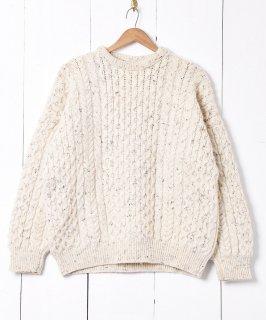 古着アイルランド製 アラン編み フィッシャーマンセーター 古着のネット通販 古着屋グレープフルーツムーン