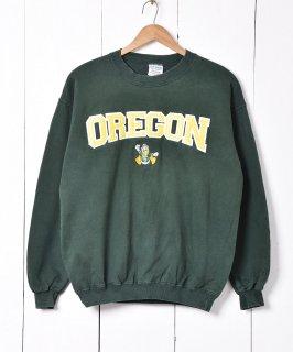 古着オレゴン大学×ドナルド・ダック カレッジスウェット 古着のネット通販 古着屋グレープフルーツムーン