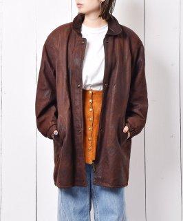 古着ファーフード付き レザーコート 古着のネット通販 古着屋グレープフルーツムーン
