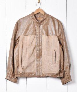 古着「Aigner」レザー スイングトップ 古着のネット通販 古着屋グレープフルーツムーン