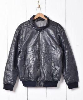 古着中綿入り レザー ブルゾンジャケット 古着のネット通販 古着屋グレープフルーツムーン