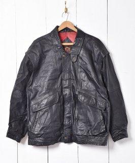 古着スタンドカラー チンストラップ付 レザージャケット 古着のネット通販 古着屋グレープフルーツムーン
