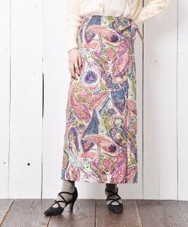 古着アメリカ製 ペイズリー柄 コットン ラップスカート 古着のネット通販 古着屋グレープフルーツムーン