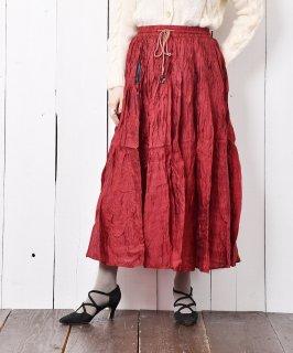 古着鈴紐付き エスニック風スカート 古着のネット通販 古着屋グレープフルーツムーン