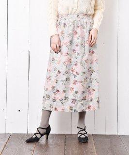 古着アメリカ製 花柄 ギャザースカート 古着のネット通販 古着屋グレープフルーツムーン