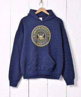 古着UNITED STATES NAVY プリント スウェットパーカー 古着のネット通販 古着屋グレープフルーツムーン