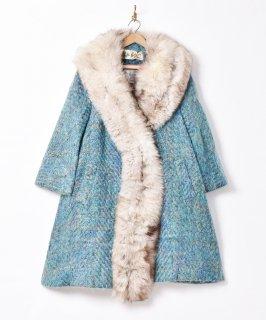 古着60's アメリカ製「Lilli Ann」フォックスファーコート 古着のネット通販 古着屋グレープフルーツムーン