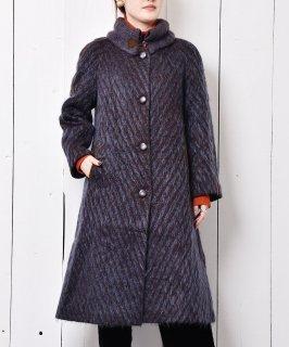 古着ウール&モヘアミックス ロングコート 古着のネット通販 古着屋グレープフルーツムーン