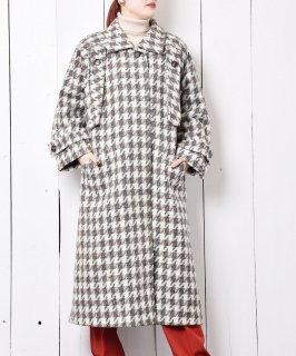 古着ドイツ製 ハウンドトゥースチェック ウールコート 古着のネット通販 古着屋グレープフルーツムーン