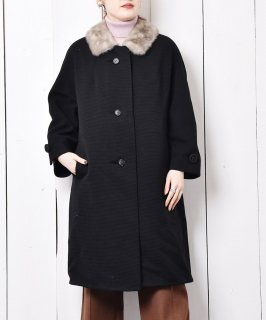 古着50~60's ファーカラー ウールコート 古着のネット通販 古着屋グレープフルーツムーン