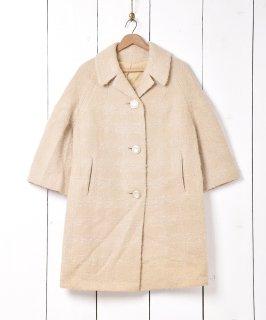 古着50~60年代 アメリカ製「LEEDS」アイボリーコート 古着のネット通販 古着屋グレープフルーツムーン