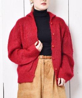 古着60~70's 襟付き モヘアカーディガン 古着のネット通販 古着屋グレープフルーツムーン