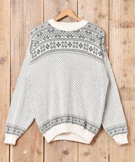 古着イタリア製 ノルディック柄セーター 古着のネット通販 古着屋グレープフルーツムーン