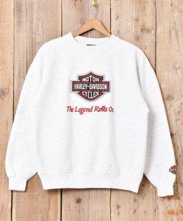 古着HERLEY-DAVIDSON 前Vガゼット 刺繍 スウェットシャツ 古着のネット通販 古着屋グレープフルーツムーン