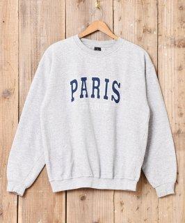 古着「PARIS」ロゴ刺繍 スウェット 古着のネット通販 古着屋グレープフルーツムーン