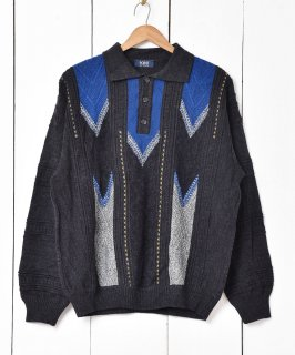 古着イタリア製  立体編み ニットセーター 古着のネット通販 古着屋グレープフルーツムーン