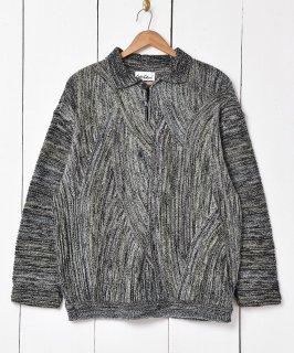 古着ドイツ製 立体編み ニュアンスカラー ニットセーター 古着のネット通販 古着屋グレープフルーツムーン