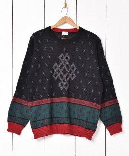 古着イタリア製 ラムウール混 クルーネックセーター  古着のネット通販 古着屋グレープフルーツムーン