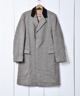 古着イギリス製 ヘリンボーン カバーコート 古着のネット通販 古着屋グレープフルーツムーン