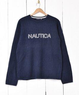 古着NAUTICA コットンニットセーター 古着のネット通販 古着屋グレープフルーツムーン