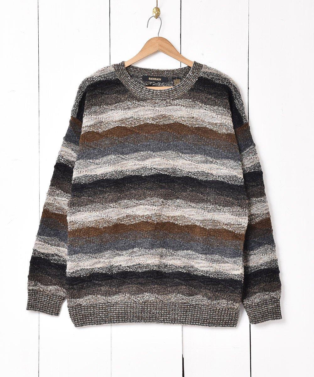 古着 アメリカ製 ミックスカラーボーダーセーター 古着 ネット 通販 古着屋グレープフルーツムーン
