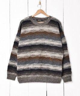 古着アメリカ製 ミックスカラーボーダーセーター 古着のネット通販 古着屋グレープフルーツムーン
