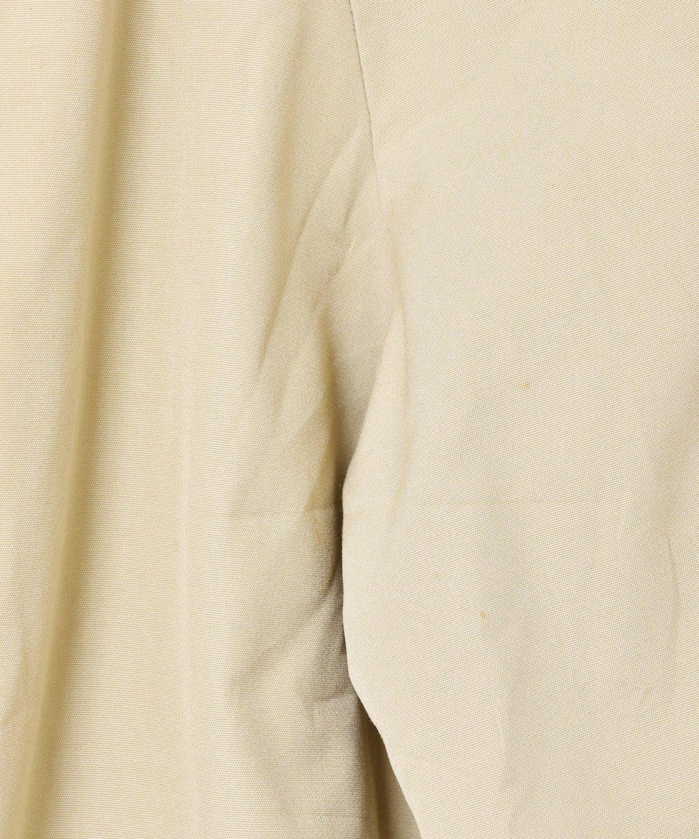 ベージュ×グレンチェック リバーシブル ステンカラーコート サムネイル