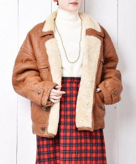 古着イタリア製 フックボタン ボアジャケット  古着のネット通販 古着屋グレープフルーツムーン